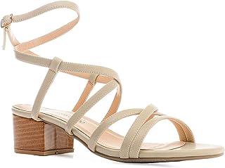 Andres Machado AM5502 Sandalen met hak voor dames, meisjes en jongens, Romeinse sandalen met blokhak, EU 32 tot 35/42 tot 45