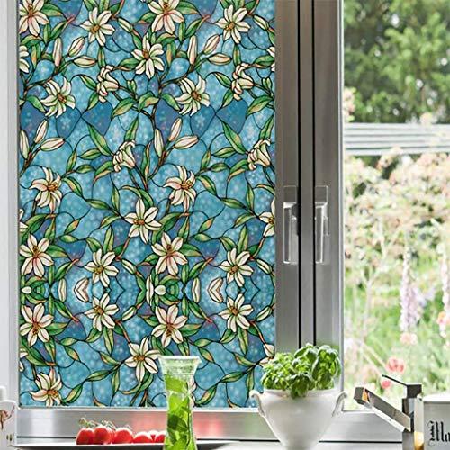 TT&CC PVC-Fenster-Folie,Nicht klebende statische klarsichtfolie Peel lichtundurchlässigen Anti-uv-privatsphäre buntglas-Fenster Dekoration Papier matt-A 60x100cm(24x39inch)