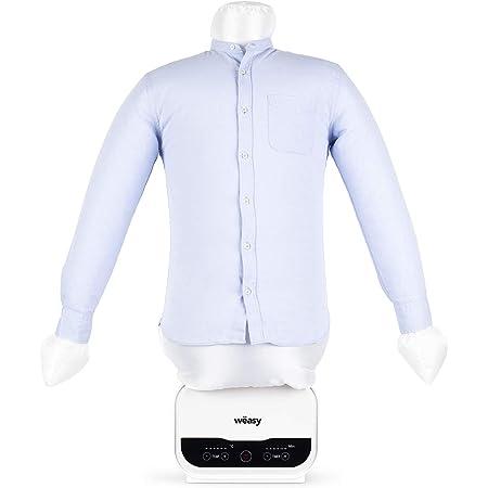 Wëasy IRO320 Maniquí Secado Automático Magic Pressing para Camisas, Plancha A Vapor, 1200W, hasta 130ºC, Planchado Perfecto, Blanco, plástico