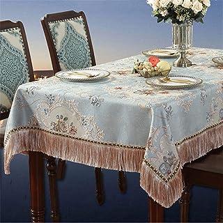 SHYPT Nappe épaisse de style européen Nappe carrée Table à thé Jacquard Anti-poussière Couverture polyvalente Serviette (C...