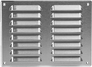 260 x 190 mm roestvrij stalen ventilatierooster met bescherming tegen insecten, afvoerrooster, toevoer, metalen rooster