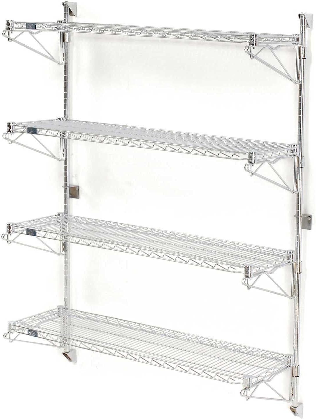 Nexel Superlatite Wall Mount Be super welcome Wire 4-Shelf Starter x 63