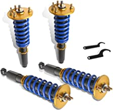 MOSTPLUS Full Coilovers Struts for 2001-2003 Acura CL/1999-2003 Acura TL/1998-2002 Honda Accord Adjustable Height Shock Absorber Assembly (Set of 4)