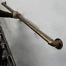 Industriewind Kinder an die Wand gelehnt Innen YIKE-Handlauf Treppengel/änder Schwarzes schmiedeeisernes Treppengel/änder 30-200 cm und Au/ßenkorridor-Dachboden-Restaurantleitplanken-Sicherheitsrohr