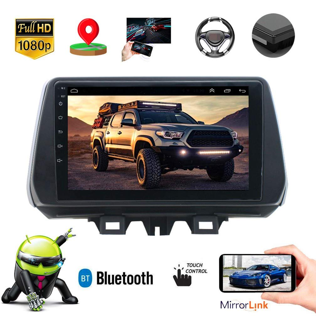 XMZWD 9 Pulgadas Coche Estéreo GPS Navegador Android Reproductor Multimedia Capacitivo Pantalla, con HD 1080P/Actualizaciones A Través De WiFi/Bluetooth Handsfree Calling, GPS Coche: Amazon.es: Hogar