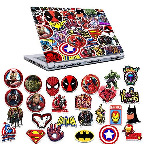 YMSD Batman Marvel Stickers Hulk Movie Superhero Avengers Stickers Set Stickers 50pcs