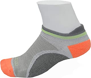 Women's Athletic Blister Free Socks | No Smell Silver Fiber | Gray & Coral