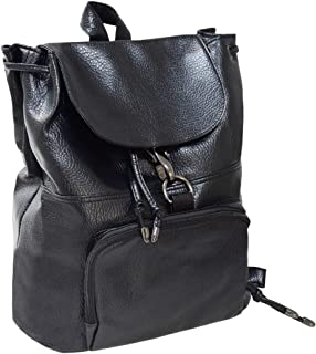 WITERY Leather Large Capacity Backpack Causal Traveling Shopping Women