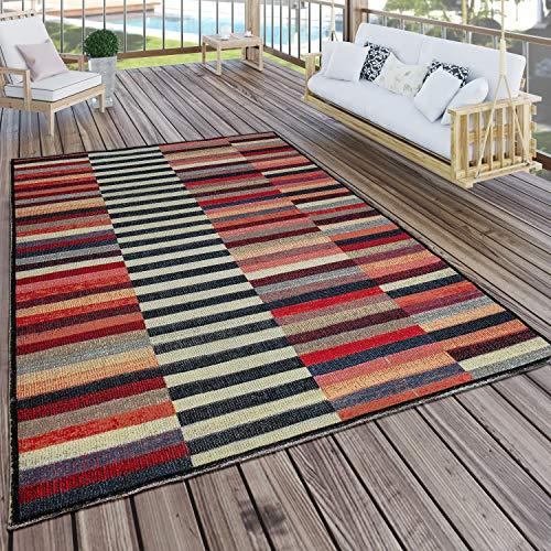 Paco Home In- & Outdoor Teppich Modern Boho Muster Terrassen Teppich Bunt, Grösse:120x170 cm
