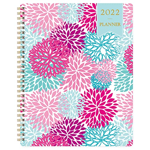 """2022 Planner - Weekly & Monthly Planner, Calendar Planner January 2022-December 2022 with to-do List, 8"""" x 10"""", Strong Twin - Wire Binding, Flexible Cover, Premium Paper, Perfect for Home or Office"""