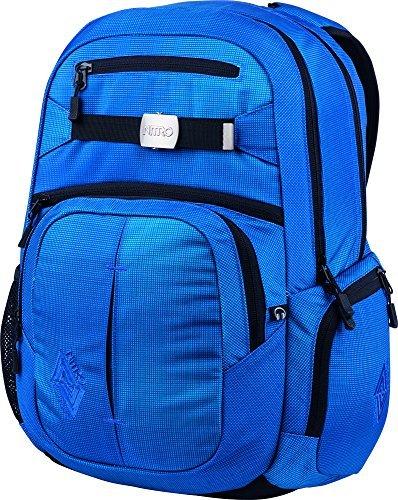 Nitro Snowboards Rucksack Hero, Blur Brilliant Blue, 52 x 38 x 23 cm, 37 Liter, 1151878038 by Nitro Snowboards