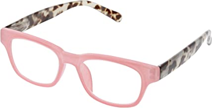 Peepers Women's Vintage Vibes - Pink/Gray Tortoise 2511200 Wayfarer Reading Glasses, Pink & Gray Tortoise, 2
