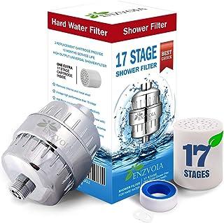 ENZVOIA 17 Stage Douchefilter, harde waterontharder, verwijder chloor en fluoride - Douchefilter voor haaruitval - 2 verva...