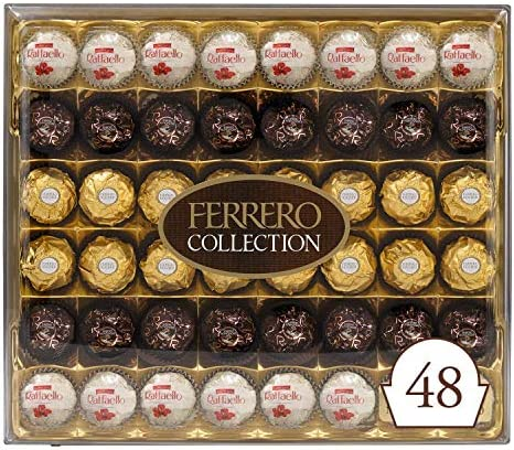 Ferrero Rocher Collection Fine Hazelnut Milk Chocolates 48 Count Valentine s Day Gift Box Assorted product image