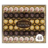 You will receive 48 confections – 16 of each variety – presented in a beautiful gift box, the perfect Christmas, hostess, or Secret Santa gifts for loved ones this holiday season Raffaello: A crunchy specialty with a velvety hazelnut cream filling; a...