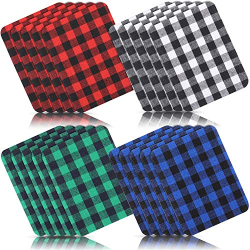 small 20 Christmas Plaid Application and Iron Plaid Patch and Plaid Iron and Fabric Repair Set Large …