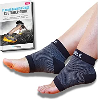 Bevisible Sports Plantar Fasciitis Sock - Compression Socks Foot Care Sleeves - Best For Heel , Arch & Ankle Brace Support...
