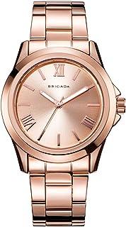 BRIGADA Rose Gold Swiss Brand Women Watches, Minimalist Wrist Quartz Watches for Women Waterproof