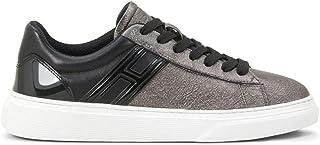 Hogan H365 Scarpe da Donna Sneakers Running Sportive HXW3650J971LM8210N in Pelle Grigio Stan Nero Shoes Comfort Tempo Libe...