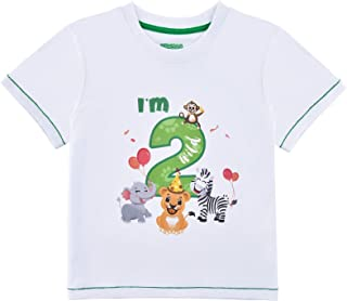 2do Camiseta Cumpleaños Bebé Niño Animales de Selva Cumpleaño Manga Corta Tops