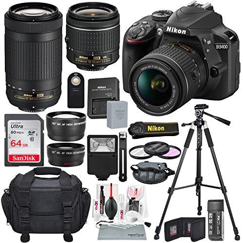 Nikon D3400 with AF-P DX...
