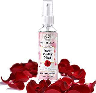 BodyAlchemy Pure and Natural Premium Rose Water/Skin Toner (Gulab Jal) - 200ml, Steam Distilled - Organic and Chemical Free