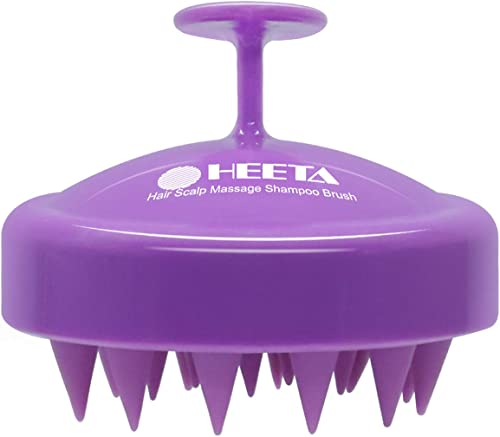 Hair Shampoo Brush, Heeta Scalp Care Hair Brush with Soft Silicone Scalp Massager (Purple)
