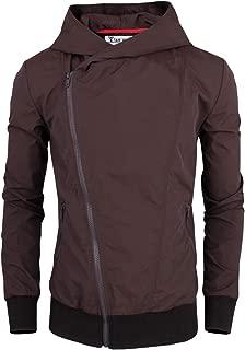 Men's Stylish Asymmetrical Zip Up Hoodie Windbreaker Jacket