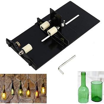 Cortador de Botellas de Vidrio Máquina de Corte de Botellas de Vidrio de Cerveza de Vino Herramienta de Fabricación de Artesanía: Amazon.es: Bricolaje y herramientas