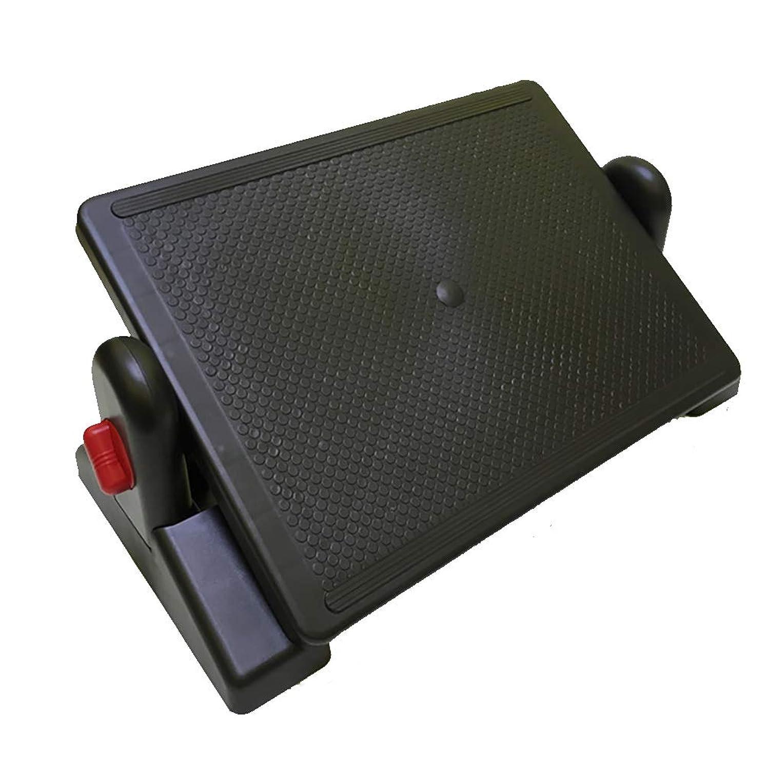 脅迫満了豊富机の下のロックできる角度、オフィスの机の下の人間工学的の愚かなスツール、フットライザー、家のための腰痛の軽減、オフィスの調節可能なフットレスト,Red
