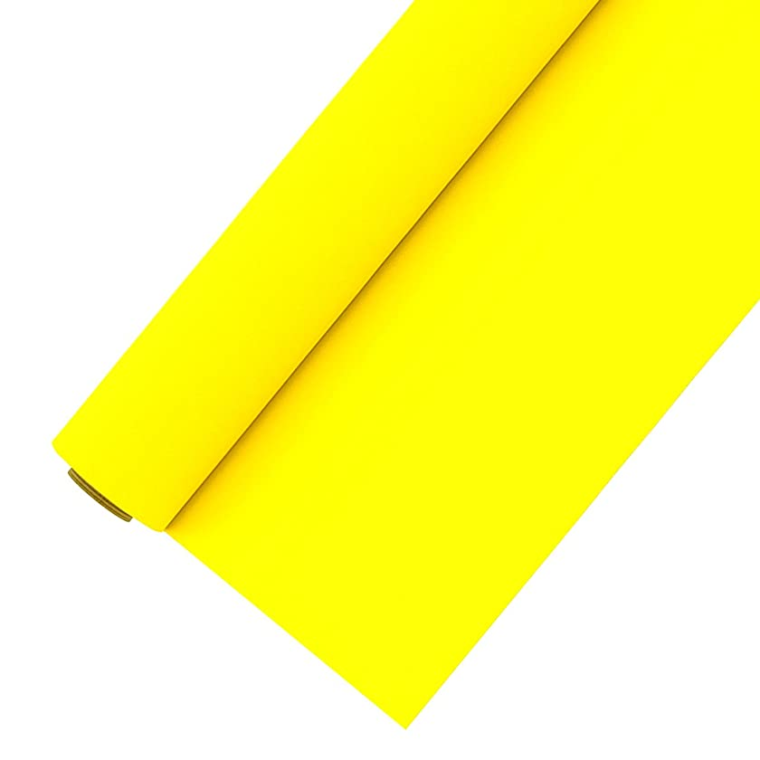 HTV Vinyl Roll 12 Inches x 5 Feet Easy to Weed Heat Transfer Vinyl for T-Shirts (Lemon Yellow)