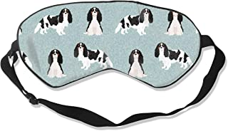 Charles Spaniel Dog Tricolored Dog Breeds Dog Bree Silk Sleep Mask Comfortable Blindfold Eye mask Adjustable for Men, Women or Kids