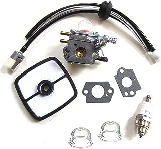HQparts Carburetor & Tune Up Kit Air Filter Primer Bulb Spark Plug for for Zama C1U-K51 Echo HC-1500 HC-1600 HC-1800 HC-2000 HC-2400 HC-2410 Zama C1U-K45
