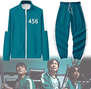 Squid Game Cosplay Costume 2021Korea Movie Squid Game Tracksuit T-Shirt Pullover Round Six Cosplay Outfit Halloween Costum...