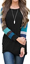 AUSELILY Women's Long Sleeve Cotton Knitted Casual Tunic Sweatshirt Tops