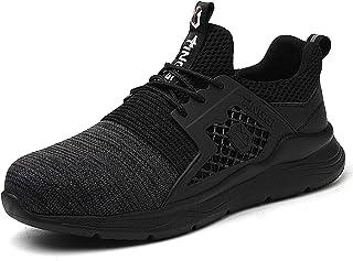 CHNHIRA Chaussures de Sécurité Homme Embout Acier Protection Léger Basket Securite Chaussures de Travail Unisexes