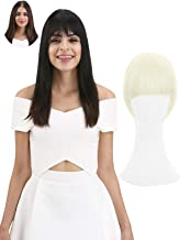 REECHO Fashion Full Length Synthetic 1 Piece Layered Clip in Hair Bangs Fringe Hairpieces Hair Extensions Color - White Blonde