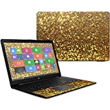 MightySkins Skin Compatible With HP 17t Laptop 17.3' (2017) - Gold Dazzle | Protective, Durable, and Unique Vinyl Decal wrap cover | Easy To Apply, Remove, and Change Styles | Made in the USA