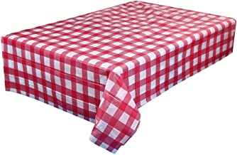 Corsion Disposable Table Cover Plastic Squre Tablecloths for Picnic Party Catering Events Tableware 72x72 Inch (D)