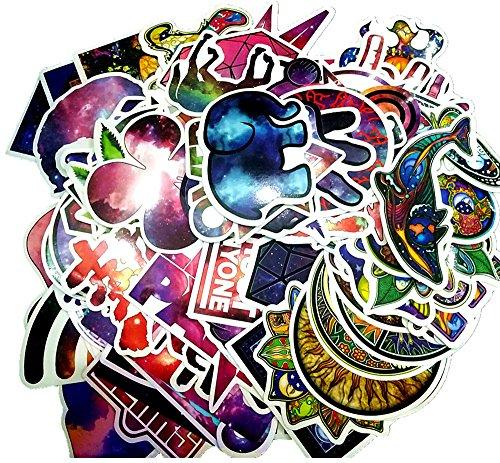 103 Pcs Galaxy Space Vintage Frieden Welt Graffiti Super Cool Aufkleber Aufkleber Pack für Skateboard Snowboard Gepäck Auto Fahrrad Laptop Koffer Möbel etc
