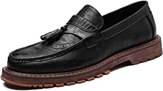 Men's Business Oxford Daily New British Retro Low Top Carving Tasselled Brogue Shoes casual shoes (Color : Black, Size : 41 EU)