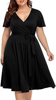 cheap plus size black dresses