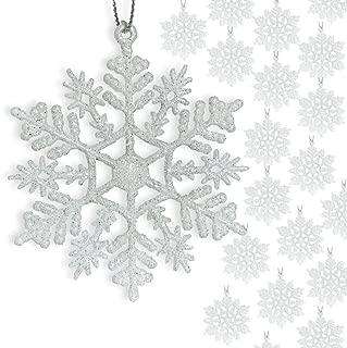 BANBERRY DESIGNS Small White Snowflakes - 3