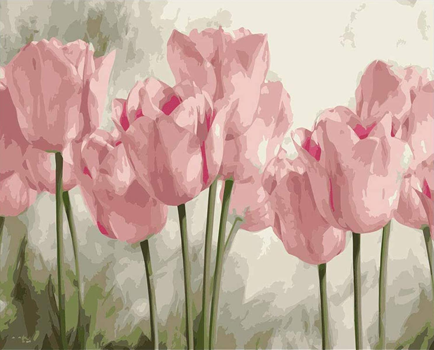 Diamond Painting Pink Lily Art P for Adults Kits Same Very popular day shipping
