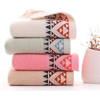 Yibuy 4 tiras de toalla de algodón grueso absorbente suave toalla ...