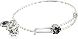 Alex and Ani Women's Triskelion Symbol Bead Charm Bangle, Rafaelian Silver