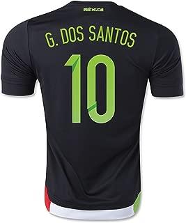 G. DOS Santos #10 Mexico Home Soccer Jersey 2015