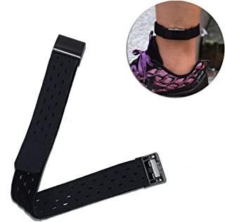 DDJOY Compatible Ankle Band for Fitbit Charge 2 Watch,  Breathable Sport Loop Ankle Band for Men and Women (Black,  Medium)