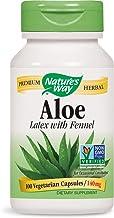Natures Way Aloe Latex with Fennel 140 milligrams 100 Vegetarian Capsules. Pack of 5 bottles.