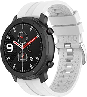 Klaas Nic 22mm Silicone Band for Samsung Galaxy Watch 46mm/Gear S3 Classic/Frontier,Quick Release Strap for Amazfit GTR 47MM/Huawei GT/Fossil Q/Ticwatch E2/S2 22mm width White